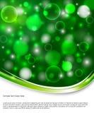 зеленый цвет bokeh предпосылки иллюстрация штока