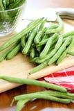 зеленый цвет bush фасоли стоковая фотография