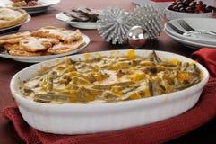 зеленый цвет casserole фасоли Стоковые Фото