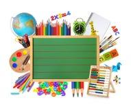 зеленый цвет chalkboard Стоковые Фото