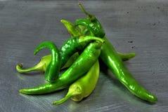 зеленый цвет chilis Стоковое Изображение RF