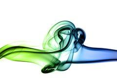 зеленый цвет clash предпосылки голубой Стоковая Фотография