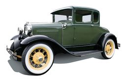 зеленый цвет coupe Стоковые Фото