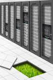 зеленый цвет datacenter Стоковые Изображения