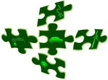 зеленый цвет eco автомобиля предпосылки иллюстрация вектора