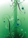 зеленый цвет florals иллюстрация вектора