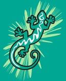 зеленый цвет gecko Стоковое фото RF