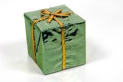 зеленый цвет giftbox Стоковое Фото
