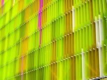 зеленый цвет m пятиуровневых листа пластической массы на основе акриловых смол внутренний и цвета розовый Стоковое фото RF