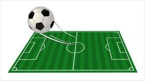 зеленый цвет s футбола поля шарика Стоковое Изображение RF