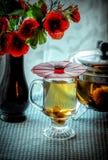 Зеленый чай и маки Стоковое Изображение RF