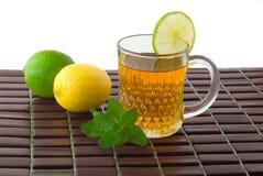 зеленый чай мяты mag известки лимона Стоковое Фото