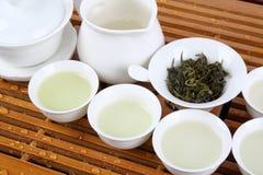 зеленый чай обслуживания Стоковое фото RF