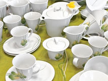 зеленый чай обслуживания Стоковые Фотографии RF