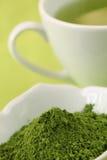 зеленый чай порошка matcha Стоковое фото RF