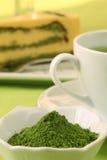 зеленый чай порошка matcha Стоковая Фотография RF