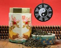 зеленый чай сработанности Стоковая Фотография