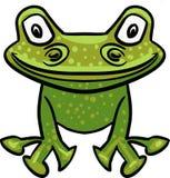 Зеленый чертеж лягушки вектора иллюстрация вектора