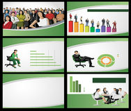 Зеленый шаблон для рекламируя брошюры Стоковое фото RF