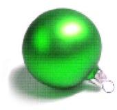 Зеленый шарик рождества иллюстрация штока