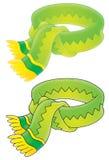 зеленый шарф иллюстрация штока