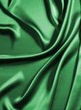 зеленый шелк Стоковая Фотография