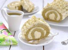 зеленый японский чай крена matcha Стоковое Изображение RF