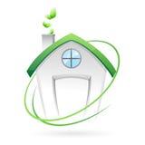 зеленый дом Стоковое Изображение RF