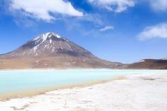 Зеленый Laguna Verde, Боливия Стоковое Изображение