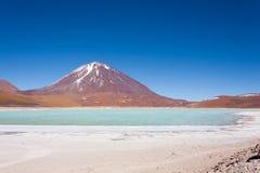 Зеленый Laguna Verde, Боливия Стоковая Фотография RF