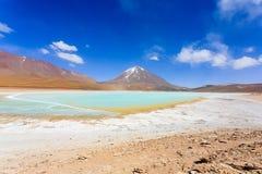 Зеленый Laguna Verde, Боливия Стоковые Изображения RF