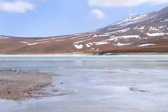 Зеленый Laguna Verde, Боливия Стоковое Изображение RF