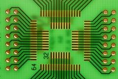 зеленый pcb Стоковое Изображение RF