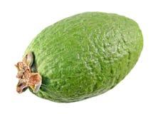 Зеленый unpeeled плодоовощ feijoa изолированный на белизне Стоковые Изображения