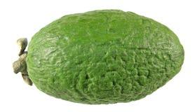 Зеленый unpeeled плодоовощ feijoa изолированный на белизне Стоковые Фото