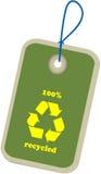 зеленым вектор рециркулированный ярлыком Стоковые Изображения RF