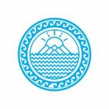 Землеведение Дизайн логотипа вектора иллюстрация вектора