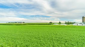 Земледелие в Ланкастере, PA поля амбара фермы страны Амишей стоковые изображения rf