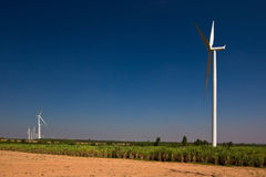 Земледелие с генератором ветротурбины Стоковая Фотография