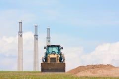 землекоп печных труб горизонтальный Стоковое фото RF