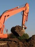 землекоп mecahnical стоковая фотография rf