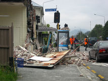 землетрясение повреждения Стоковое фото RF