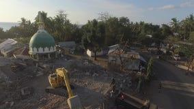 Землетрясение 2018 Lombok сток-видео