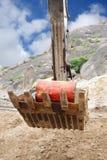 землечерпалка барабанчика ведра внутри транспортированного масла Стоковое Изображение