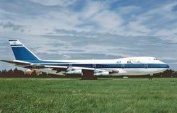 Земли Боинга B-747 авиакомпаний Эль-Аль Израиля в августе 1988 стоковое фото