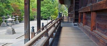 Земли виска Zenkoji, Nagano Японии Стоковое Фото