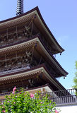 Земли виска Zenkoji, Nagano Японии Стоковое Изображение RF