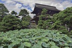 Земли виска Zenkoji, Nagano Японии Стоковое фото RF