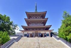 Земли виска Zenkoji, Nagano Японии Стоковая Фотография
