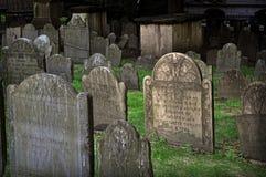 Земли захоронения Молельни короля, Бостон, MA Стоковые Фотографии RF